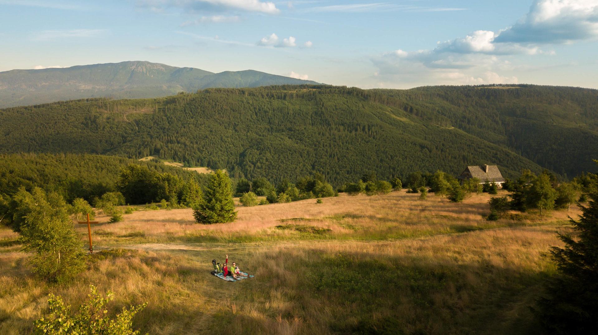 Beskidek, zdjęcie z drona, Babia Góra, Beskid Żywiecki